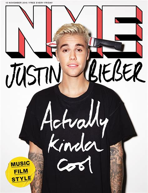 justin bieber admits to covering justin bieber covers nme magazine