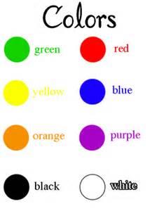 teaching colors color names worksheet