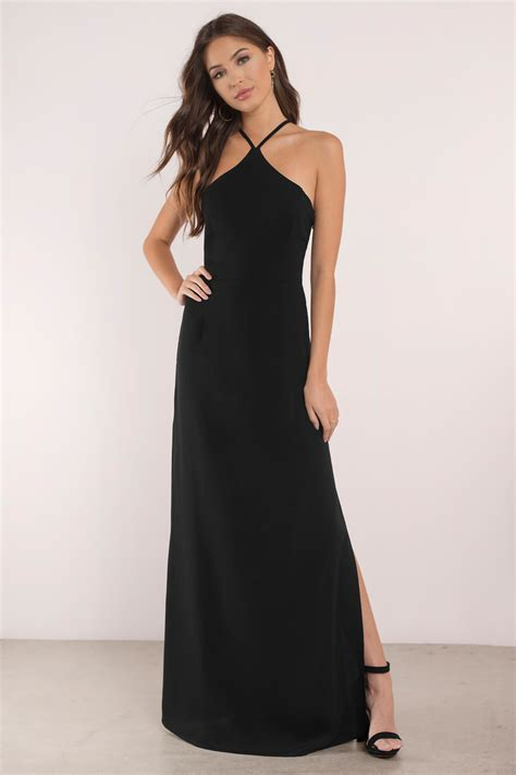 black dress criss cross dress sleek black dress maxi