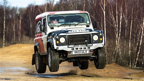 land rover racing going racing in a land rover defender