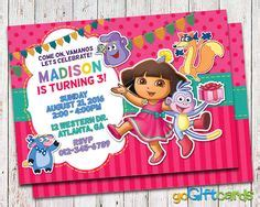 dora party invitations printable free invitation