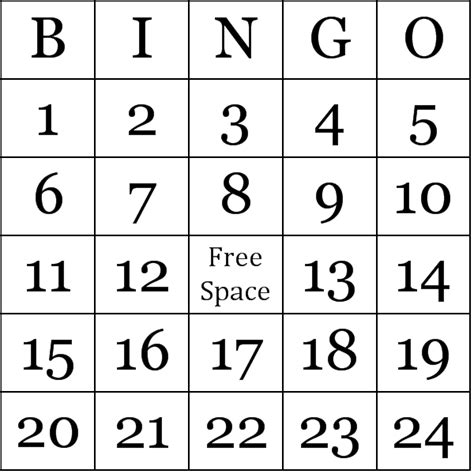 Bingo Card Template With Numbers by Numbers 1 75 Bingo Cards