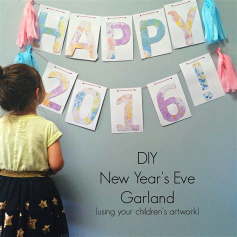 new year 2015 diy diy new year s garland oh creative day