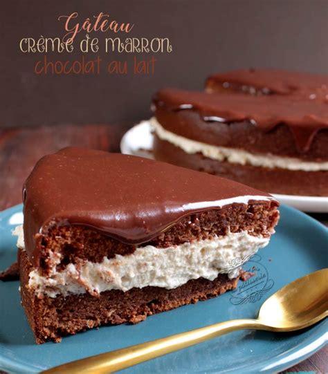 Recette De Creme Pour Decorer Gateau by G 226 Teau Au Chocolat Au Lait Et Cr 232 Me De Marron Il 233 Tait