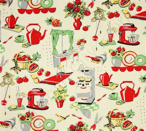 Retro Fabric by Michael Miller Fabric Fifties Kitchen Retro 50 S Kitchen