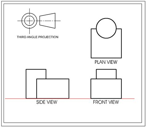 angle orthographic projection  explanation