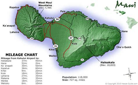 printable road map maui hawaii maps of maui hawaii