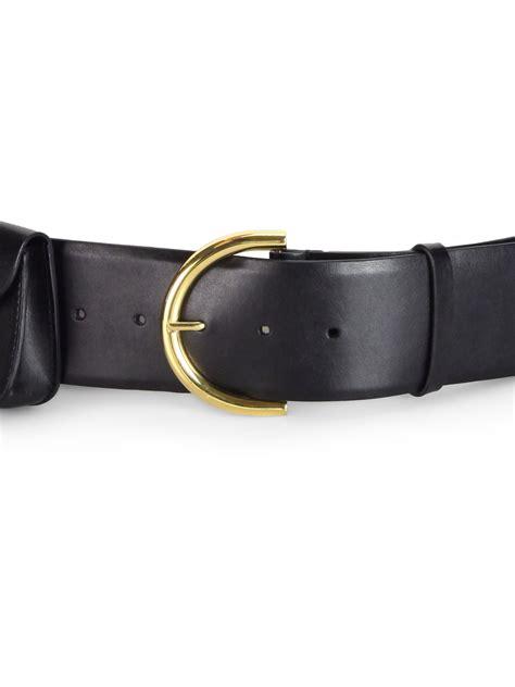 Faux Leather Wide Belt lyst stella mccartney wide faux leather belt in black