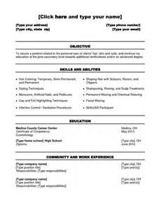 Hairdressing Resume Template by Cosmetology Student Resume Templates Student Resume Template Posts Student And