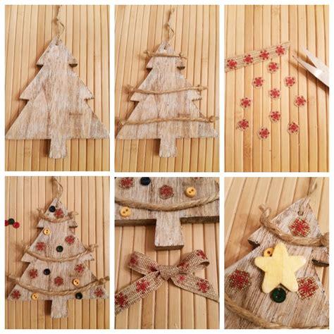 diy rustic christmas ttee ornament tutorial