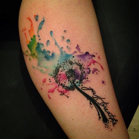 watercolor dandelion tattoo best 20 watercolor dandelion ideas on