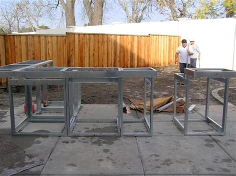 Diy Outdoor Kitchen Frames by Outdoor Kitchen Construction Masonry Wood Kits
