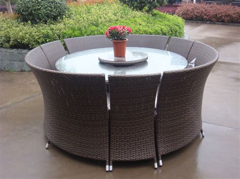 Furniture. Rectangle Black Rattan Outdoor High Top Table