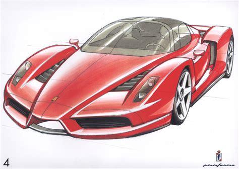 Enzo Drawing Enzo Sketch 1024x768 Wallpaper