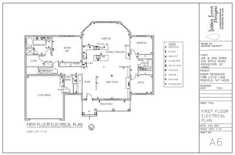 electrical floor plan robin residence jdldesign