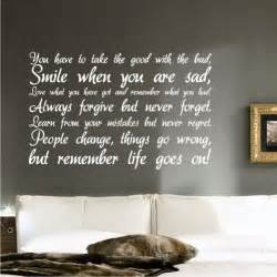Wall Stickers Inspirational Quotes Life Inspirational Wall Sticker Quote Art Decal Quote