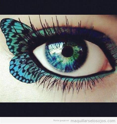 imagenes de ojos pintados con sombras maquillaje ojos mariposa alas pon maquillaje en tu vida