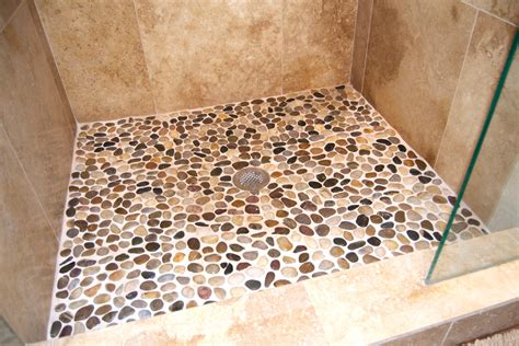 Pebble Shower Floor Bathroom Craftsman With Craftsman Pebble Shower Floor
