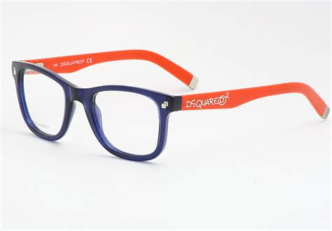 dsquared eyeglasses dq5005 blue orange 090 optical frames