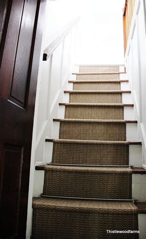 add indoor outdoor carpet to stairs