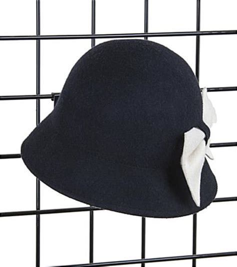 Retail Hat Rack by Black Gridwall Hat Rack Single Cap Display