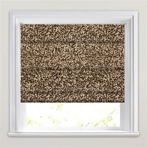 Brown Patterned Roman Blinds | abstract shimmering mocha brown velvet patterned roman blinds