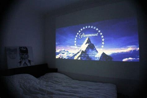 bedroom projector movie night netflix tumblr
