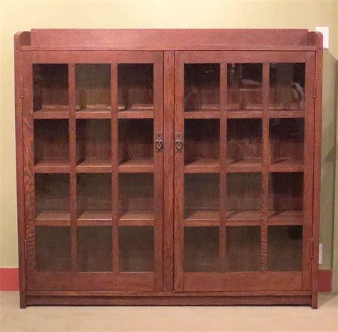 gustav stickley two door bookcase california historical
