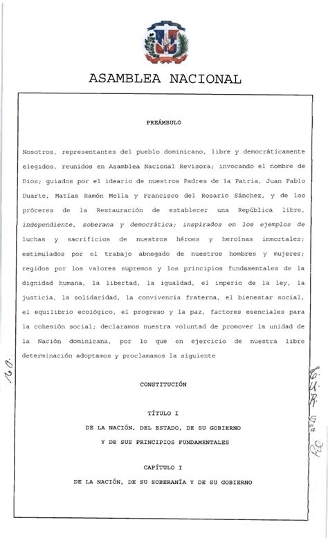 requisitos para casarse en republica dominicana constituci 243 n de la rep 250 blica dominicana 2010