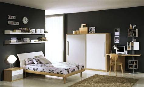 chambre ado noir et blanc