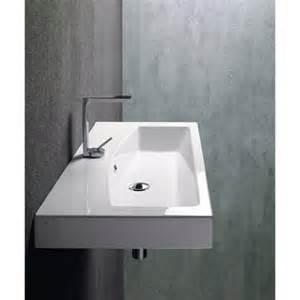 Modern Ada Bathroom Sinks Losagna Modern Rectangular Ceramic Wall Mounted Vessel Or
