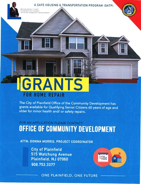 grants for home repair available through plainfield office