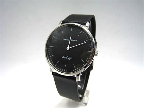 jual jam tangan kulit pria alexandre christie ac 8469