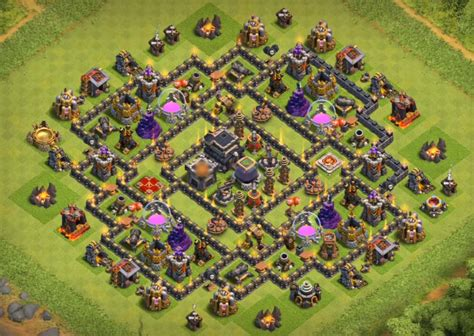 coc effective layout 10 best coc th9 farming bases anti everything 2017 bomb