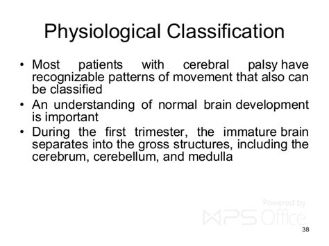 classification pattern of development cerebral palsy etiology and classification
