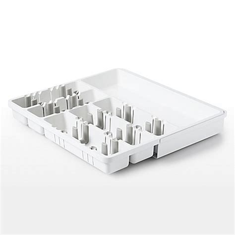 oxo expandable drawer organizer buy oxo good grips 174 expandable utensil organizer in white