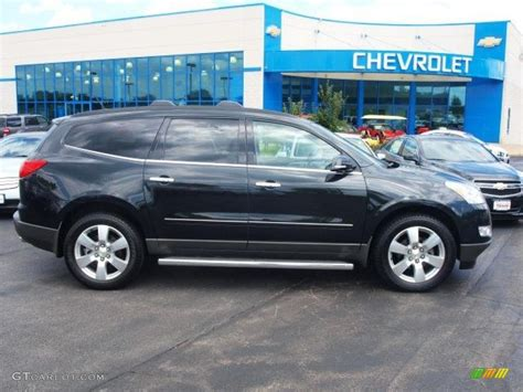 chevrolet traverse blue 2011 black granite metallic chevrolet traverse ltz