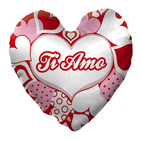 cuscino rosso cuscino rosso e rosa cuore ti amo 40cm san valentino