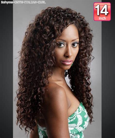 Curly Weave Styles Human Hair Photos | onyx curly weave bohyme italian curl 14 bohyme onyx