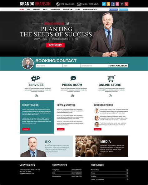 1000 Images About Public Speaker Website Design On Pinterest Motivational Speakers Public Speaker Website Templates