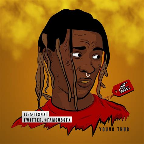 young thug cartoon theovision aura on twitter quot famousgfx youngthug