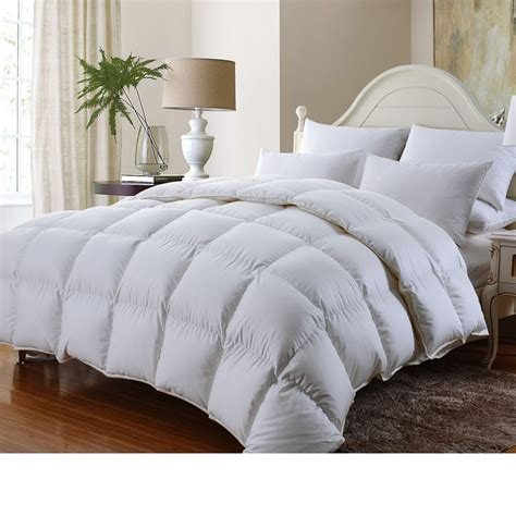 queen goose down comforter luxurious 1200tc baffle box siberian goose down comforter