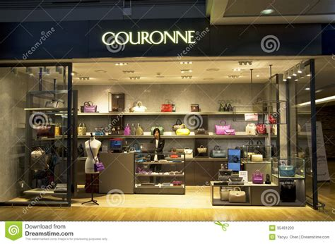 Purse Store couronne handbag and purse store editorial stock photo