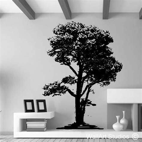 tree silhouette wall stickers oak tree silhouette wall sticker wallart studios