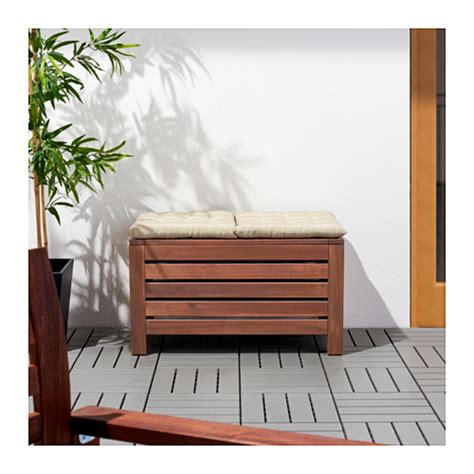 outdoor storage bench ikea 196 pplar 214 storage bench outdoor brown stained 80x41 cm ikea