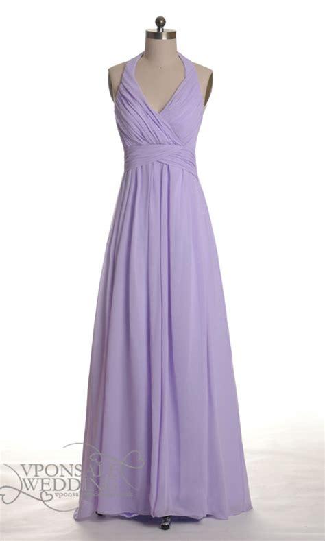 long halter lavender bridesmaid gown dvw0030 vponsale