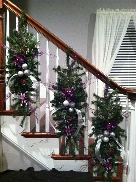 decoration for a banister kelly s christmas banister christmas decorations ideas