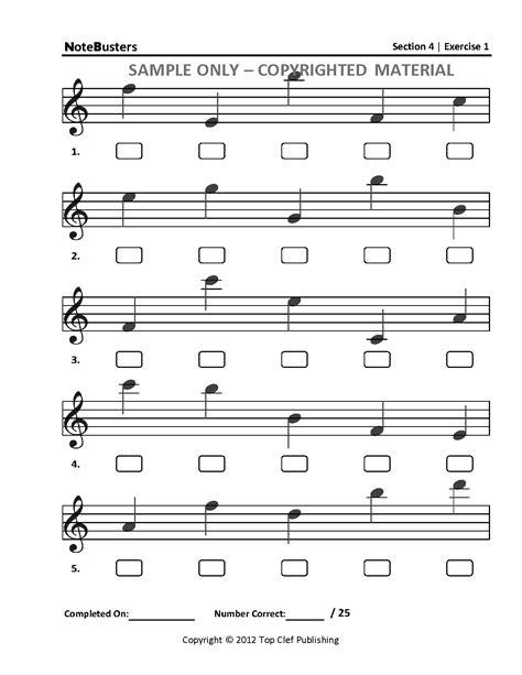 Note Reading Practice Worksheets treble clef notes worksheet abitlikethis