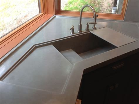 cement kitchen sink integral concrete kitchen sink contemporary kitchen