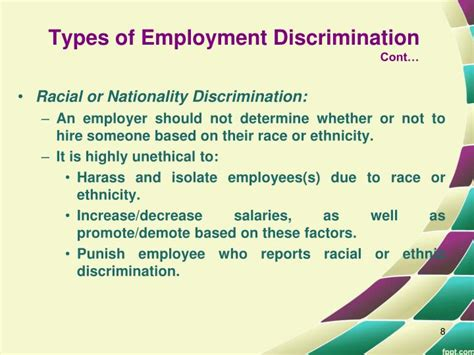 Is It Discrimination To Not Hire Someone With A Criminal Record Ppt Discrimination And Favoritism Disrupting Business Ethics Powerpoint